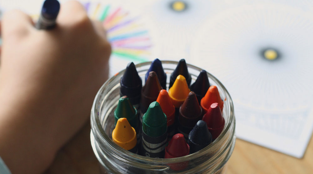 children and crayons