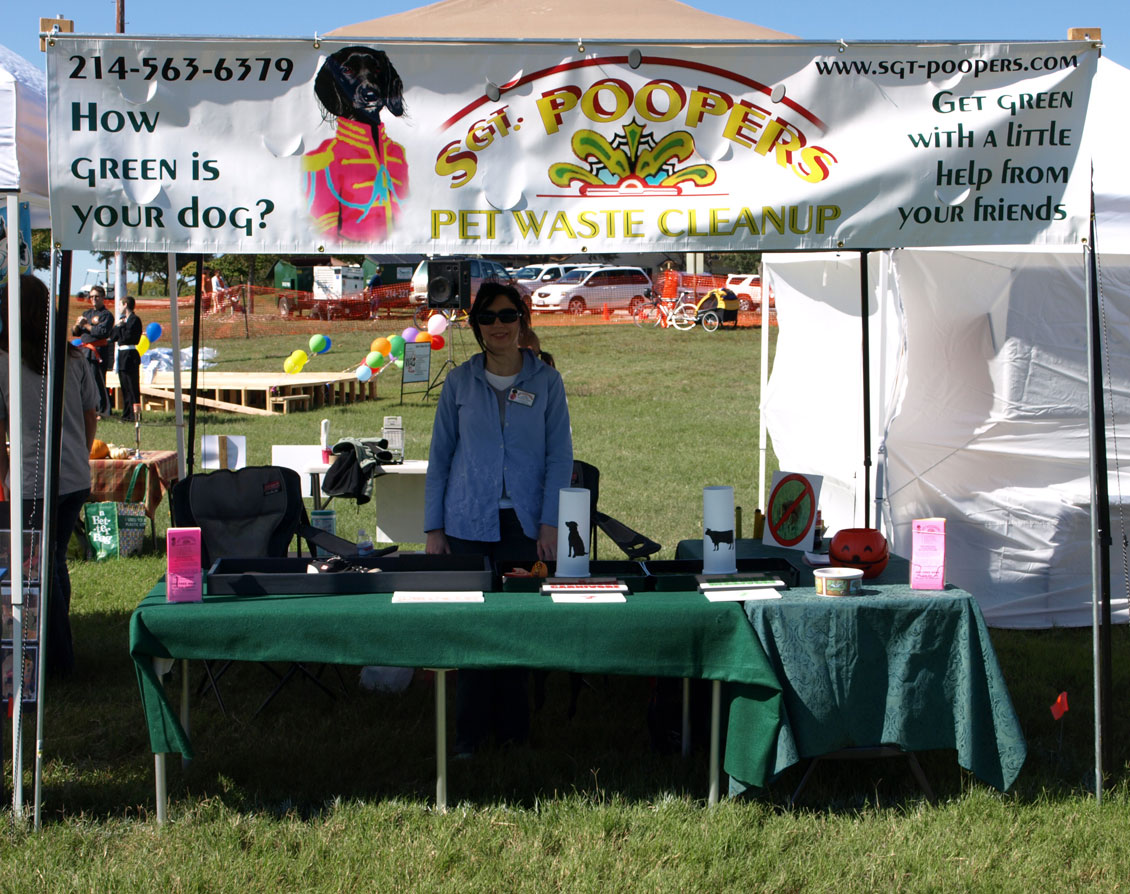 Sgt. Poopers booth at the Walk Wag Run event