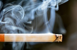 Image of smoke rising from cigarette