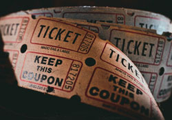 Image of paper film tickets