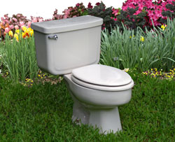 toilet in yard