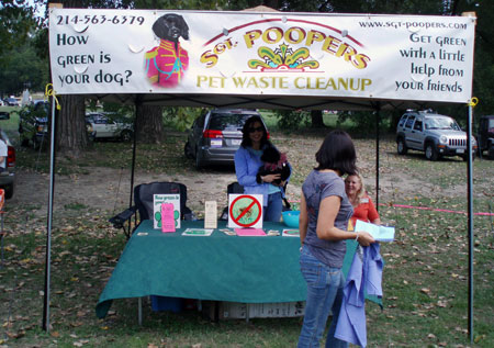 Sgt. Poopers booth at the Mystic Muts and Moonpies Event
