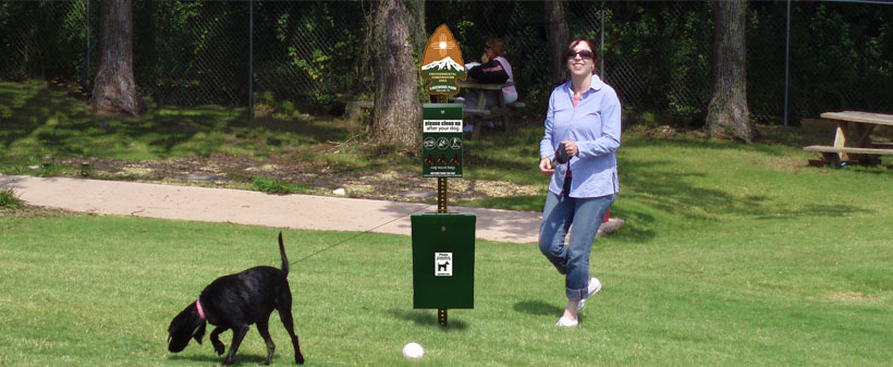 Sgt. Poopers dog waste stations